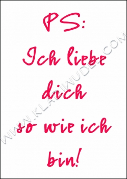 Poster liebe dich